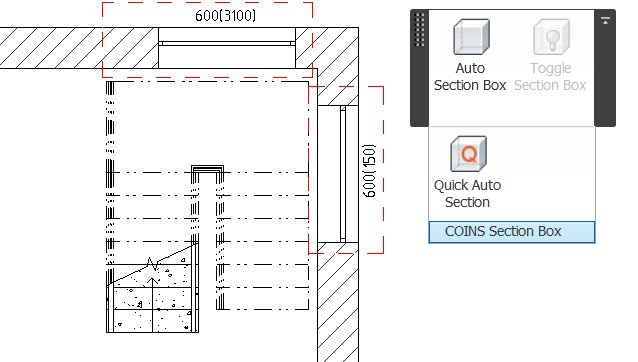 Schodiště a nástrojový panel doplňku
