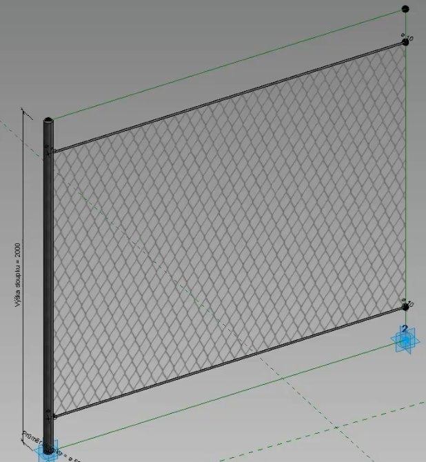 Hotový adaptivní plotový díl