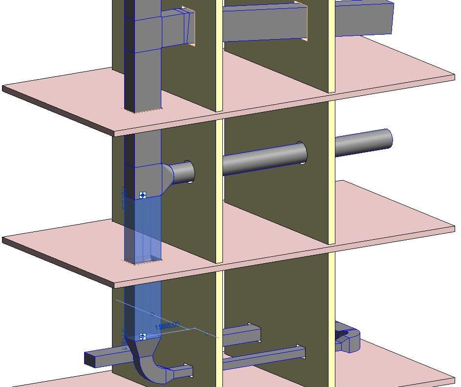 Nové otvory ve stěnách a podlahách