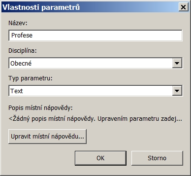 vlastnosti parametru