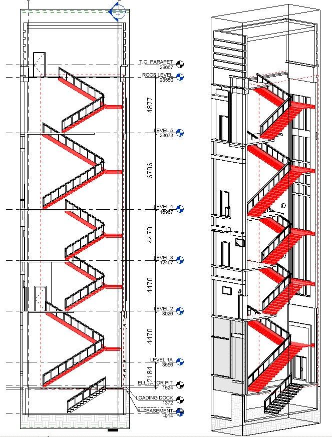 Vícepodlažní schodiště