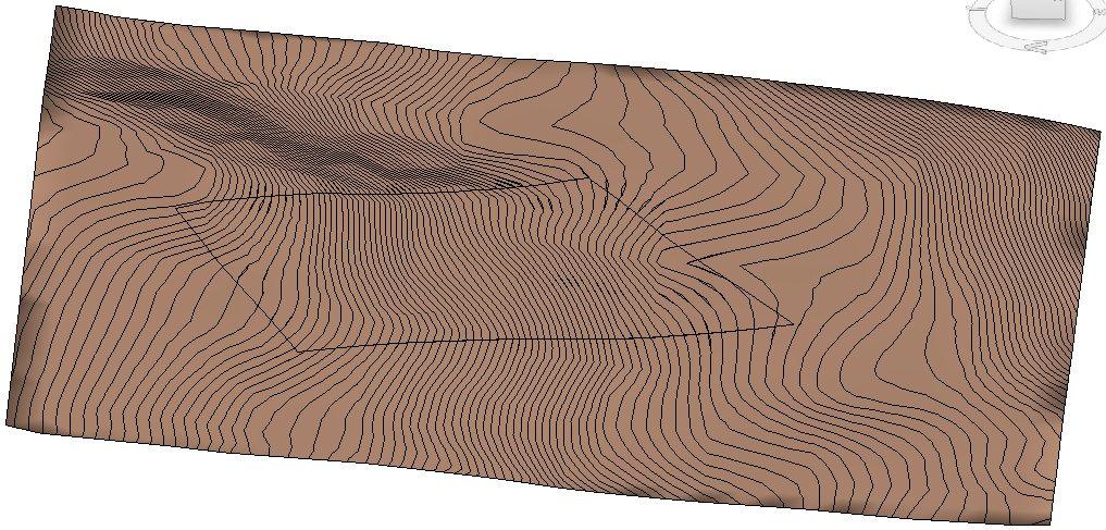 Vygenerovaná topografie terénu