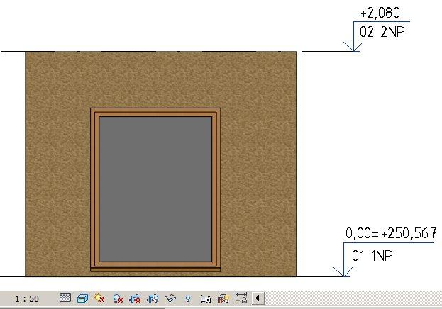 Neprůhledné okno v realistickém zobrazení