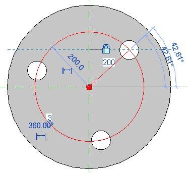 Výběr kružnice trasy pole