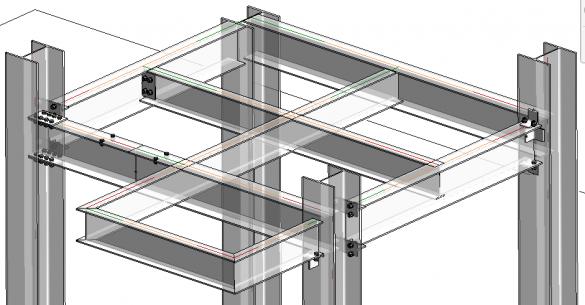 Revit 2019 - ocelové konstrukce a přípoje