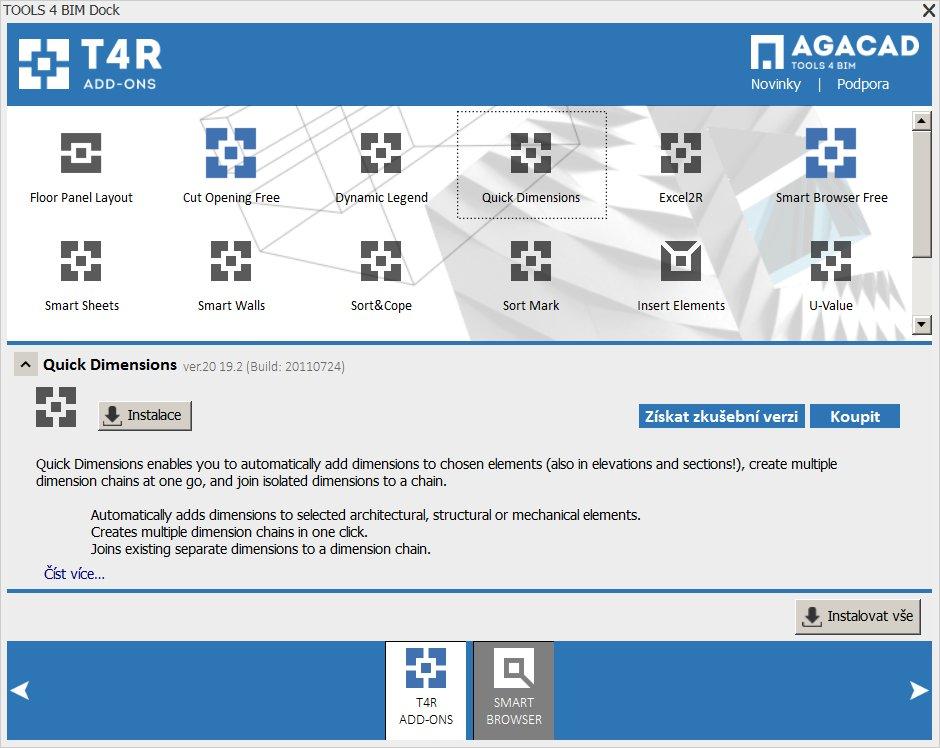 Přes konzolu lze aplikace instalovat a aktualizovat