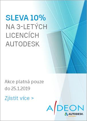 Sleva 10% na Autodesk licencích