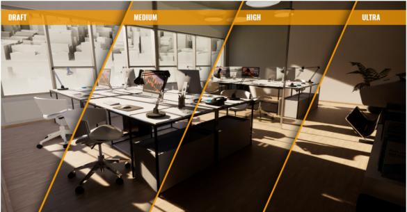 Enscape - moznosti kvality vizualizace