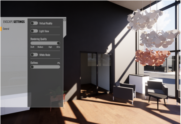 Enscape - nastaveni interaktivni vizualizace