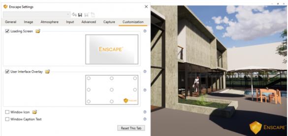 Enscape - vlozeni loga do vizualizace
