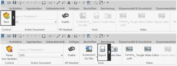 Enscape - vytvoreni interaktivni vizualizace