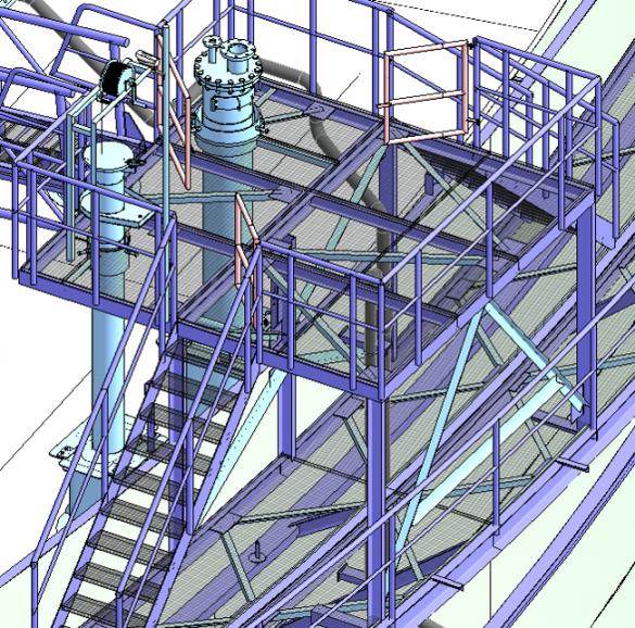Revit struktura projektu nádrže