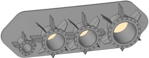 Revit model impotovany z Inventoru