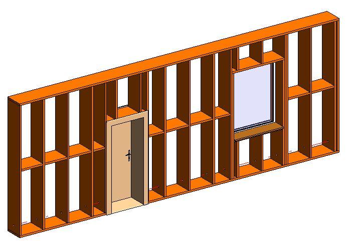 část dřevěné stěny