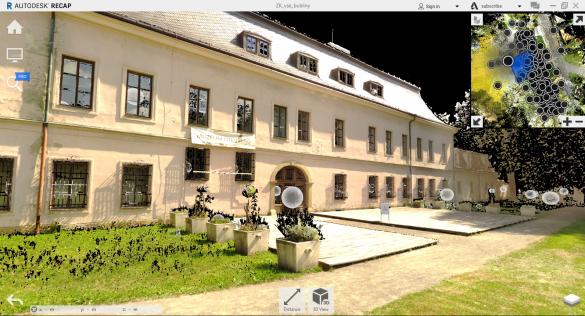 Autodesk ReCAP Mračno bodů sférický snímek