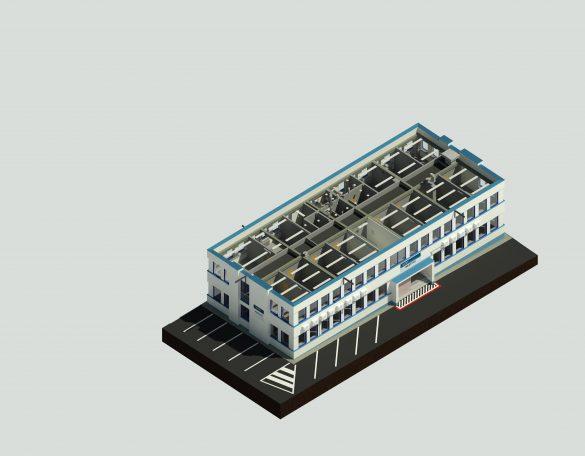 3D model vytvořený z mračna bodů