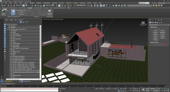 3ds Max Shaded Revit model