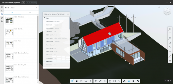 BIM 360 prohlizeni Revit 3D modelu