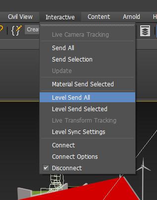 3ds Max Interactive Level Send All