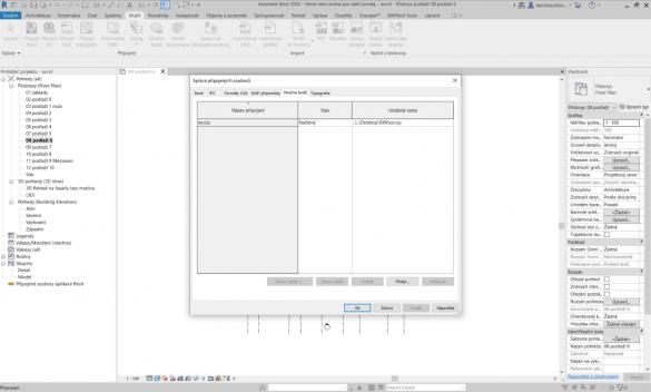 Autodesk Revit sprava pripojenych souboru