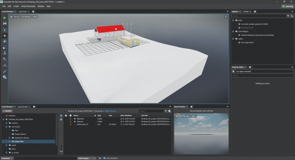 Revit model v 3ds Max Interactive