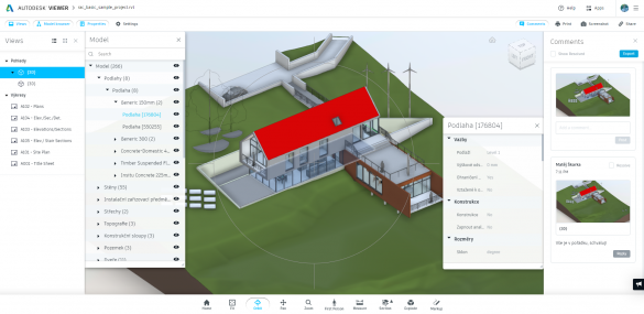 Revit prezentace Autodesk Viewer