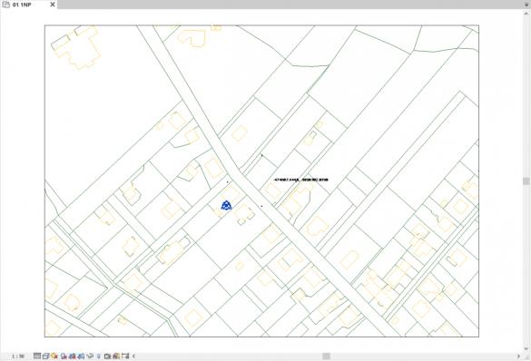 Připojení katastrální mapy