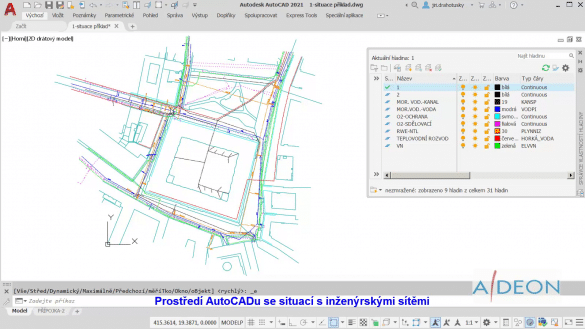 Autocad inzenyrske site DWG
