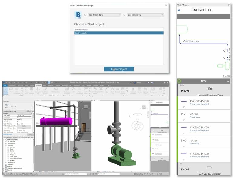 Revit 2021 PID Modeler v BIM 360 Docs