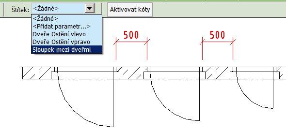 Parametrizace šířky sloupků