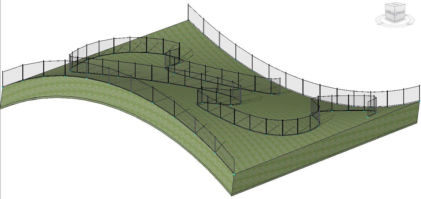 Adaptivní drátěný plot v kopcích