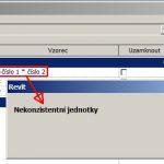 Autodesk Revit – Nekonzistentní jednotky